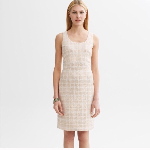 Dresses & Skirts - Banana Republic Gold Houndstooth sheath Dress